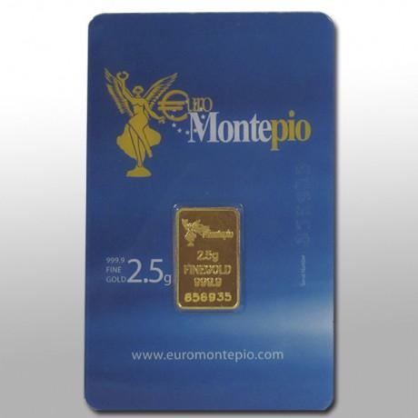 lingote de oro de 2,5 gramos